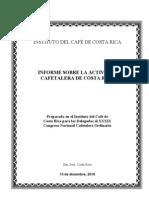 Informe Actividad Cafetalera 2010