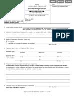 Illinois Articles of Organization