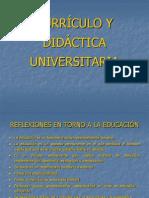 CURRÍCULO Y DIDÁCTICA UNIVERSITARIA