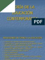 TEORIA DE LA EDUCACIÓN CONTEMPORÁNEA. DIAPOSITIVAS-1