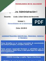 Adm1-e07_clase 1 Generalidades de La Administracion