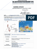 NDRRMC Sitrep No. 5 UPDATE Preparedness Measures on Tropical Storm Lawin