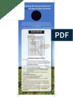 CEDA LIHEAP Doorhanger -  Bilingual Graphic Design