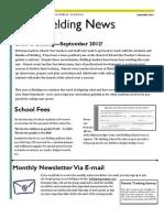 September 2012 Belding Monthly Newsletter
