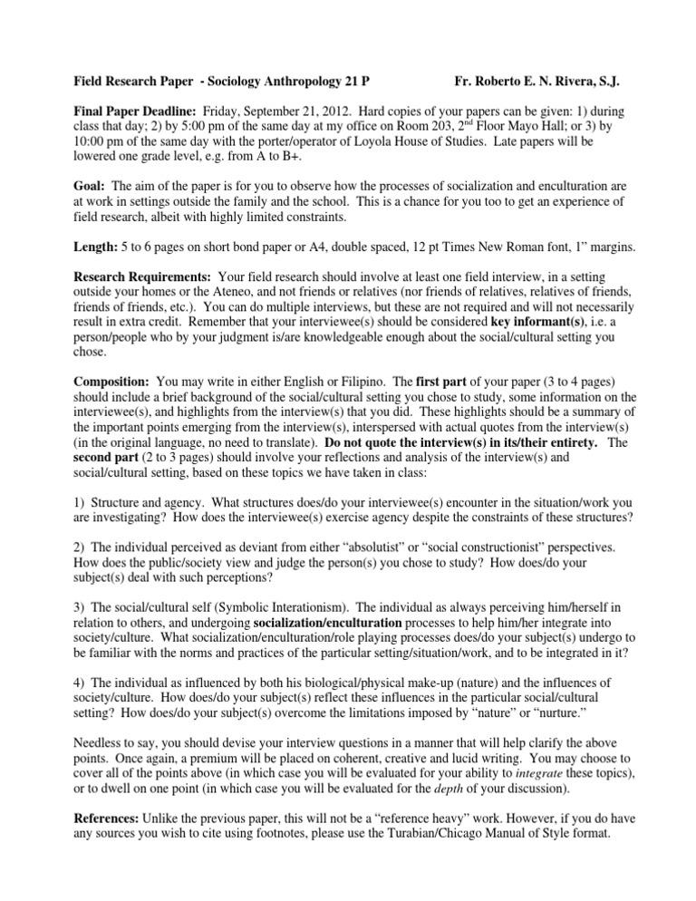 High school interview essay