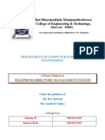 Report - telephone directory management
