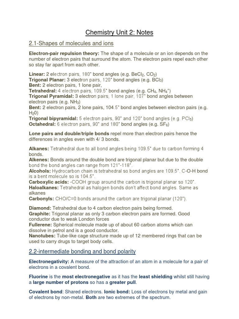 chemistry observation coursework