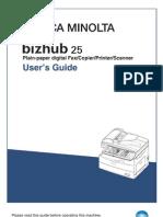 Bizhub 25 User Guide