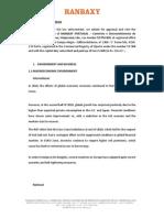 Ranbaxy Annual Report