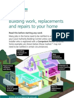 Communities & Local Goverment - Guide to Building Work, Replacement and Repairs to your Home