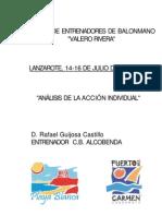 Análisis de la acción individual_[Rafa Guijosa-Clinic Lanzarote2005]