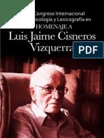 VII Congreso de Lexicologìa y Lexicografìa Luis Jaime Cisneros Vizquerra