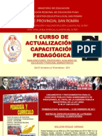 Matriz de Especificaciones de La Prueba Nacional Clasificatoria (Sutep, 2011)