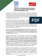 Manifiesto del PSOE contra la explotación sexual y la trata de las personas