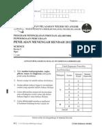 Paper 2 Science Trial Selangor 2012