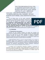 TESIS LIDERAZGO TRANSFORMACIONAL DEL DIRECTOR Y LA GESTIÓN EDUCATIVA EN LAS INSTITUCIONES EDUCATIVAS Nº 3098