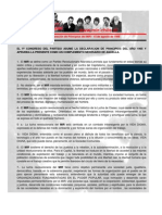 2da Declaración Complementaria de Principios del MIR - 15 de agosto de 1998