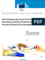 Pan-European Survey of Practices, Attitudes and Policy Preferences as Regards Personal Identity Data Management