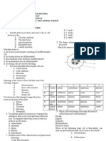 Plant and Animal Tissue Test