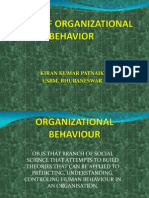 Scope of Organizational Behavior