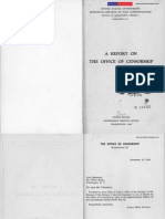 Report on the Office of Censorship