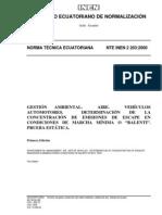 Norma Tecnica Ecuatoriana Nte Inen 2 203 - 2000