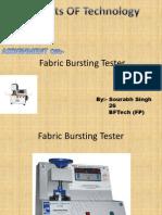 Bursting Tester