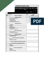 Conveyor Check List