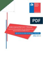 Bases Fondo de Fortalecimiento 2012