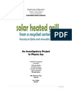 35646684 Investigatory Project in Physics Focusing on Optics and Renewable Energy Fortune High School