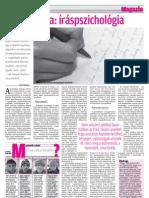 A grafológia, íráspszichológia (2010, 1 oldal)