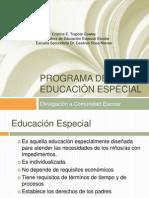 Divulgacion Programa de Educación Especial