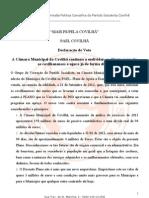 declaração de voto PAEL Covilhã