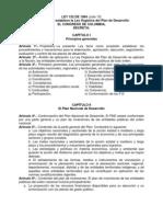 Estructura de La Ley 152 de 1994