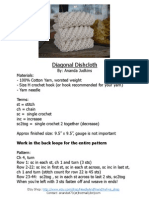 Diagonal Dishcloth