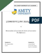 Memorandum of Associations & Article of Associations
