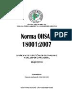 Norma OHSAS 18001-2007