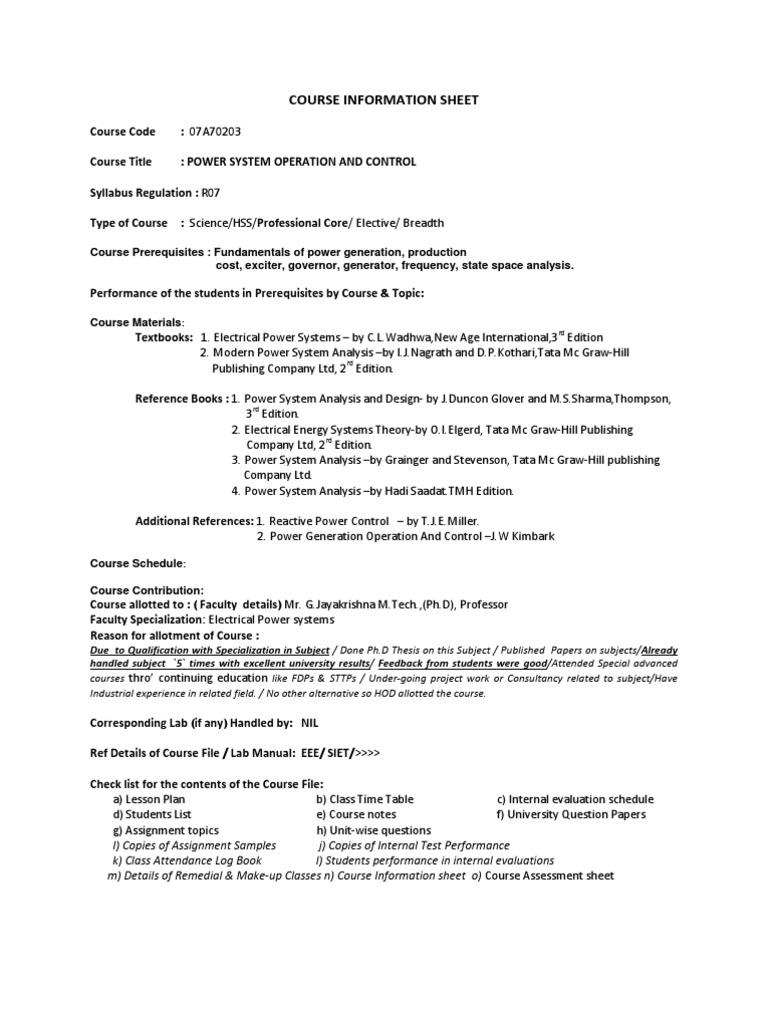 Gjk Psoc Course Sheet21912 Educational Assessment Curriculum