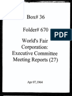 World's Fair Corporation - Executive Committee Meeting Reports - 04-07-1964