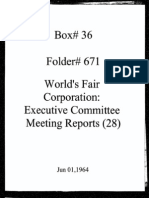 World's Fair Corporation - Executive Committee Meeting Reports - 06-01-1964