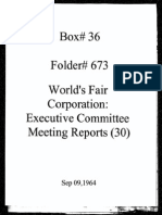 World's Fair Corporation - Executive Committee Meeting Reports - 09-09-1964