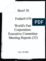 World's Fair Corporation - Executive Committee Meeting Reports - 11-18-1964