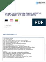 ESTONIA, LATVIA, LITHUANIA - BANKING MARKETS IN THE BALTICS 2009-2011 - CEE BANKING BRIEF