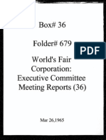 World's Fair Corporation - Executive Committee Meeting Reports - 03-26-1965