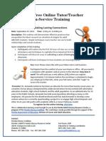 Online Training Sept 27