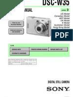 Sony Dsc-w35 Level3 Ver1.0 Sm