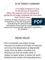 Valuation of Target Company