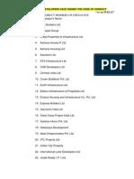 CREDAI NCR Builders List