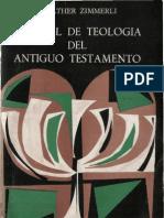 Zimmerli,Walther - Manual de Teologia Del Antiguo Testamento