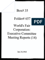 World's Fair Corporation - Executive Committee Meeting Reports - 01-24-1963